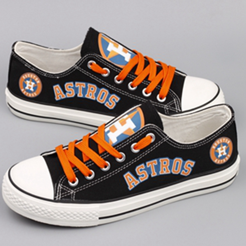 Women's Houston Astros Repeat Print Low Top Sneakers 001