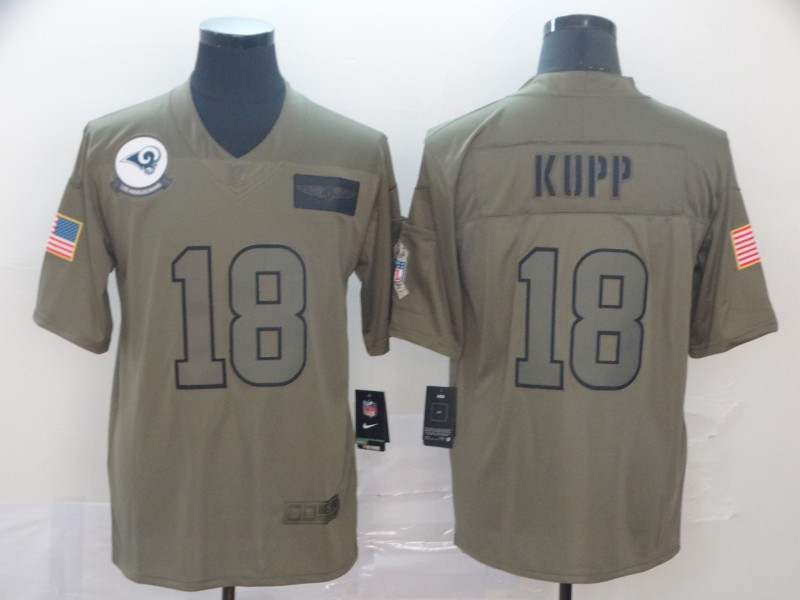 Men's Los Angeles Rams #18 Cooper Kupp 2019 Camo Salute To Service Limited Stitched NFL Jersey