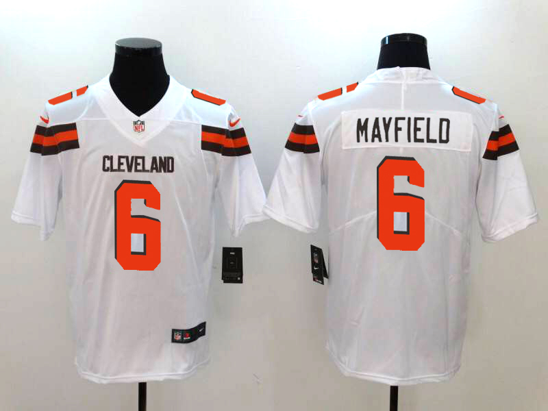 Men's Cleveland Browns #6 Baker Mayfield White 2018 NFL Draft Vapor Untouchable Limited Stitched Jersey