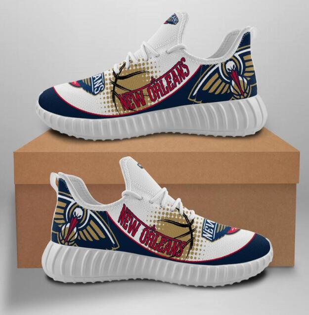 Women's New Orleans Pelicans Mesh Knit Sneakers/Shoes 002