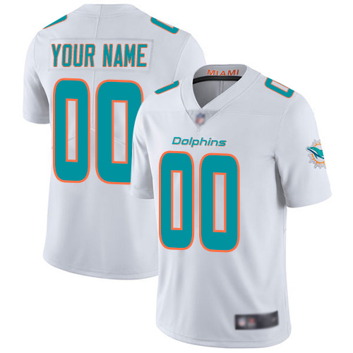 Men's Miami Dolphins ACTIVE PLAYER Custom White Vapor Untouchable Limited Stitched NFL Jersey