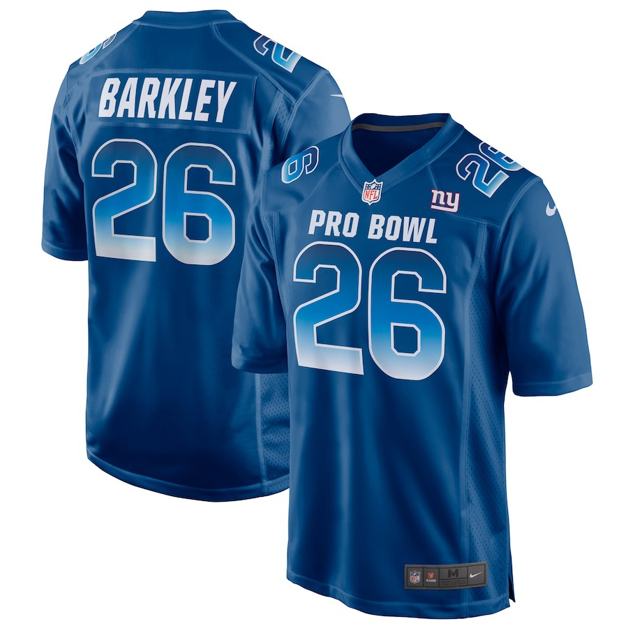 Men s NFC New York Giants  26 Saquon Barkley Royal 2019 Pro Bowl NFL Game  Jersey ad9a2968d