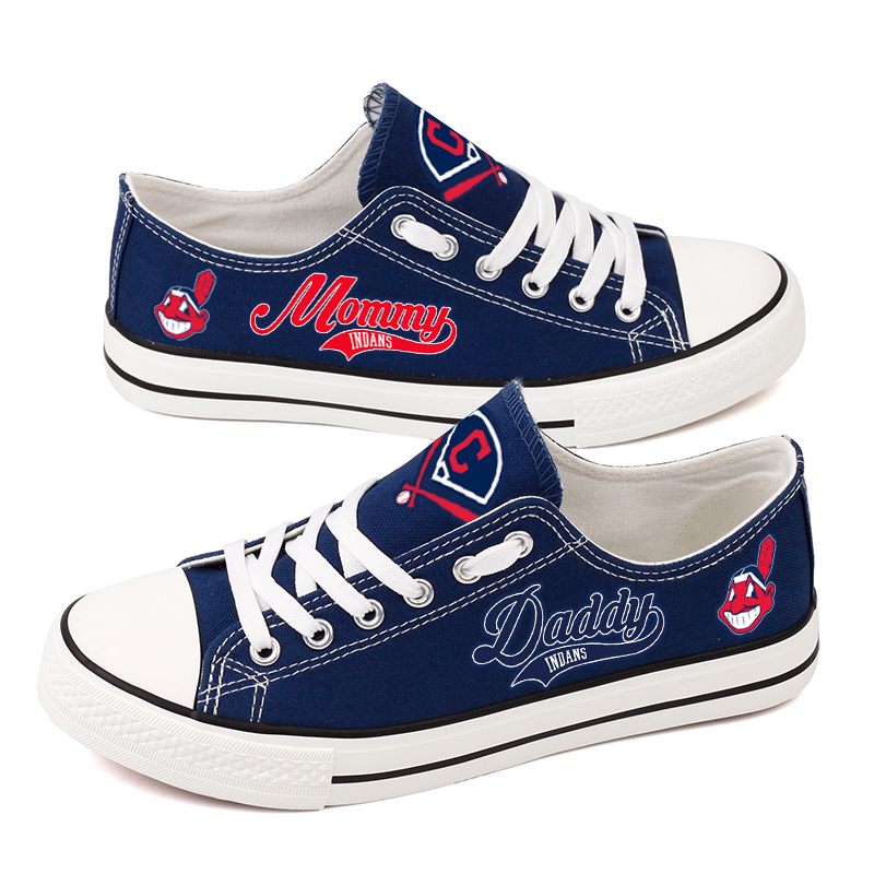 Women's Cleveland Indians Repeat Print Low Top Sneakers 003