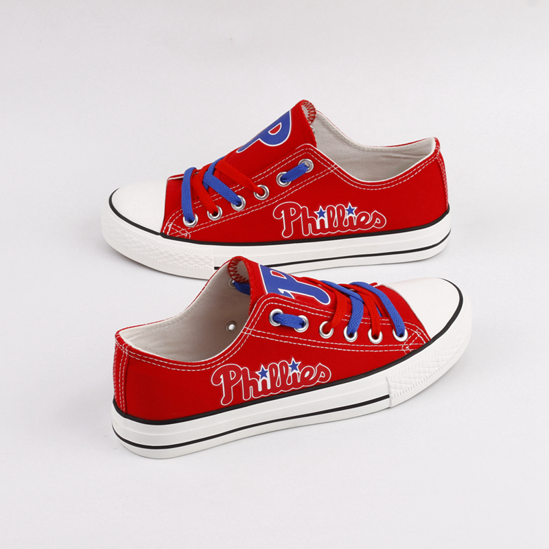 Women's Philadelphia Phillies Repeat Print Low Top Sneakers 001