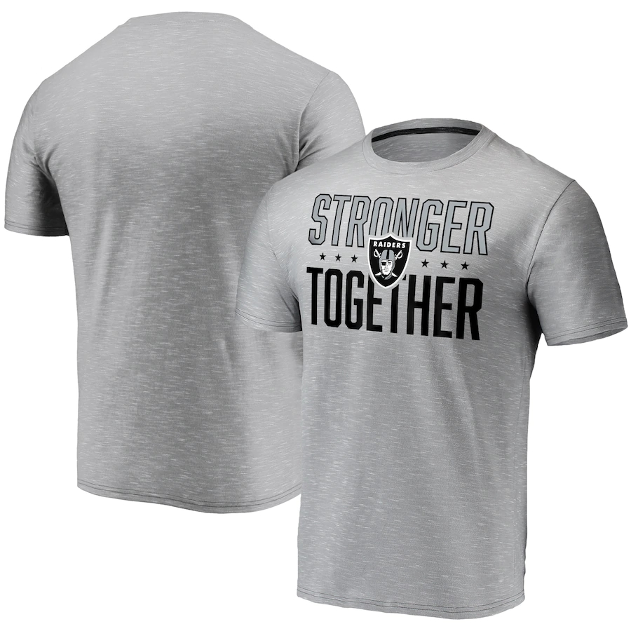 Men's Las Vegas Raiders Gray Stronger Together Space Dye T-Shirt