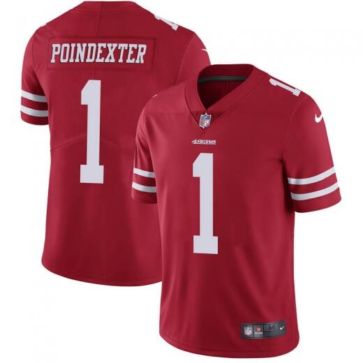 Men's San Francisco 49ers #1 Shawn Poindexter Red Vapor Untouchable Limited Stitched NFL Jersey