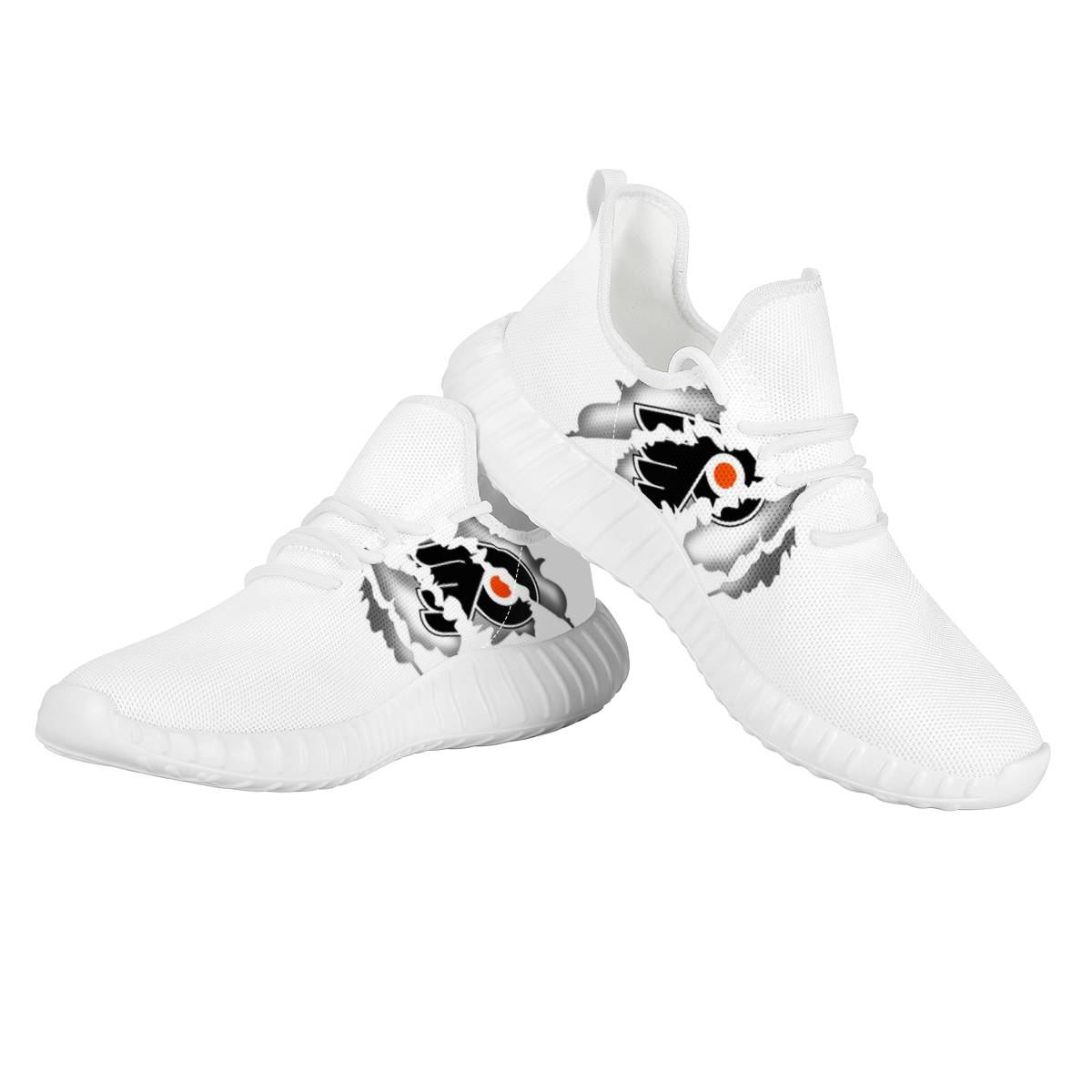 Women's NHL Philadelphia Flyers Mesh Knit Sneakers/Shoes 001