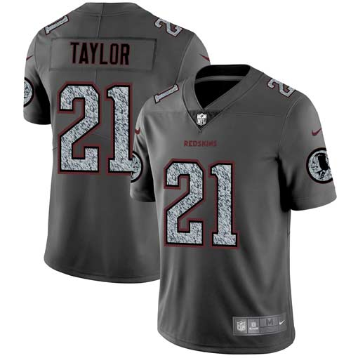 Men's Washington Redskins #21 Sean Taylor 2019 Gray Fashion Static Limited Stitched NFL Jersey