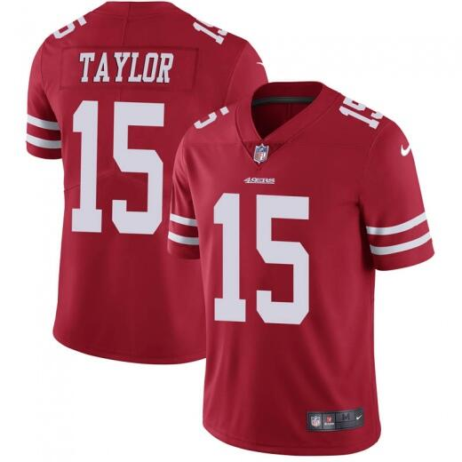 Men's San Francisco 49ers #15 Trent Taylor Red Vapor Untouchable Limited Stitched NFL Jersey