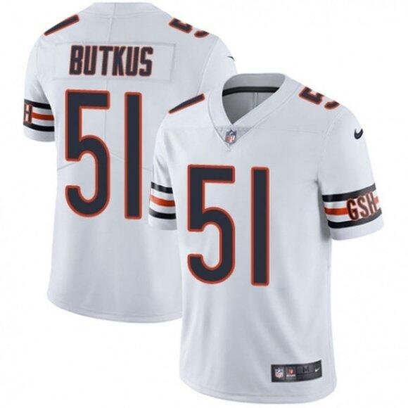 Men's Chicago Bears #51 Dick Butkus White Vapor untouchable Limited Stitched Jersey