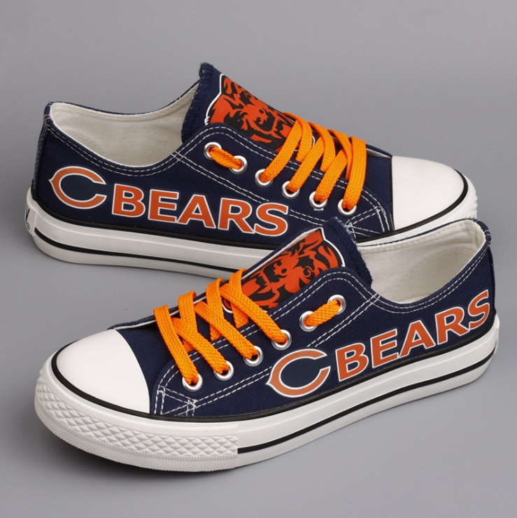 Women's NFL Chicago Bears Repeat Print Low Top Sneakers 001