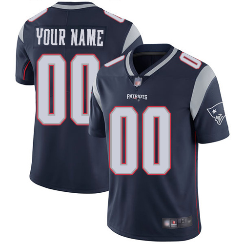 Men's New England Patriots ACTIVE PLAYER Custom Navy Vapor Untouchable Limited Stitched NFL Jersey