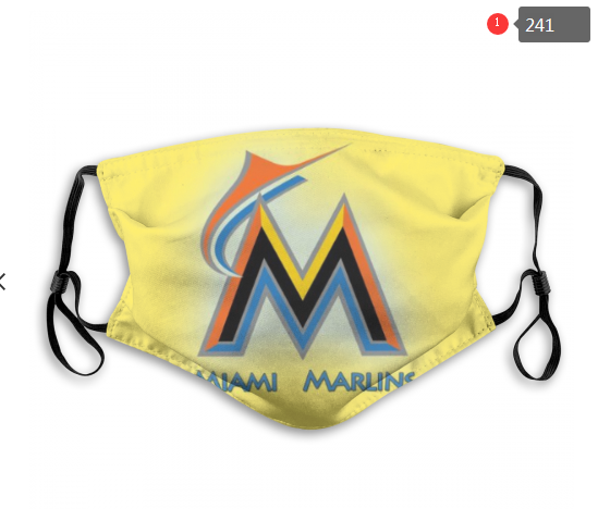 Miami Marlins Face Mask 005 Filter Pm2.5 (Pls check description for details)