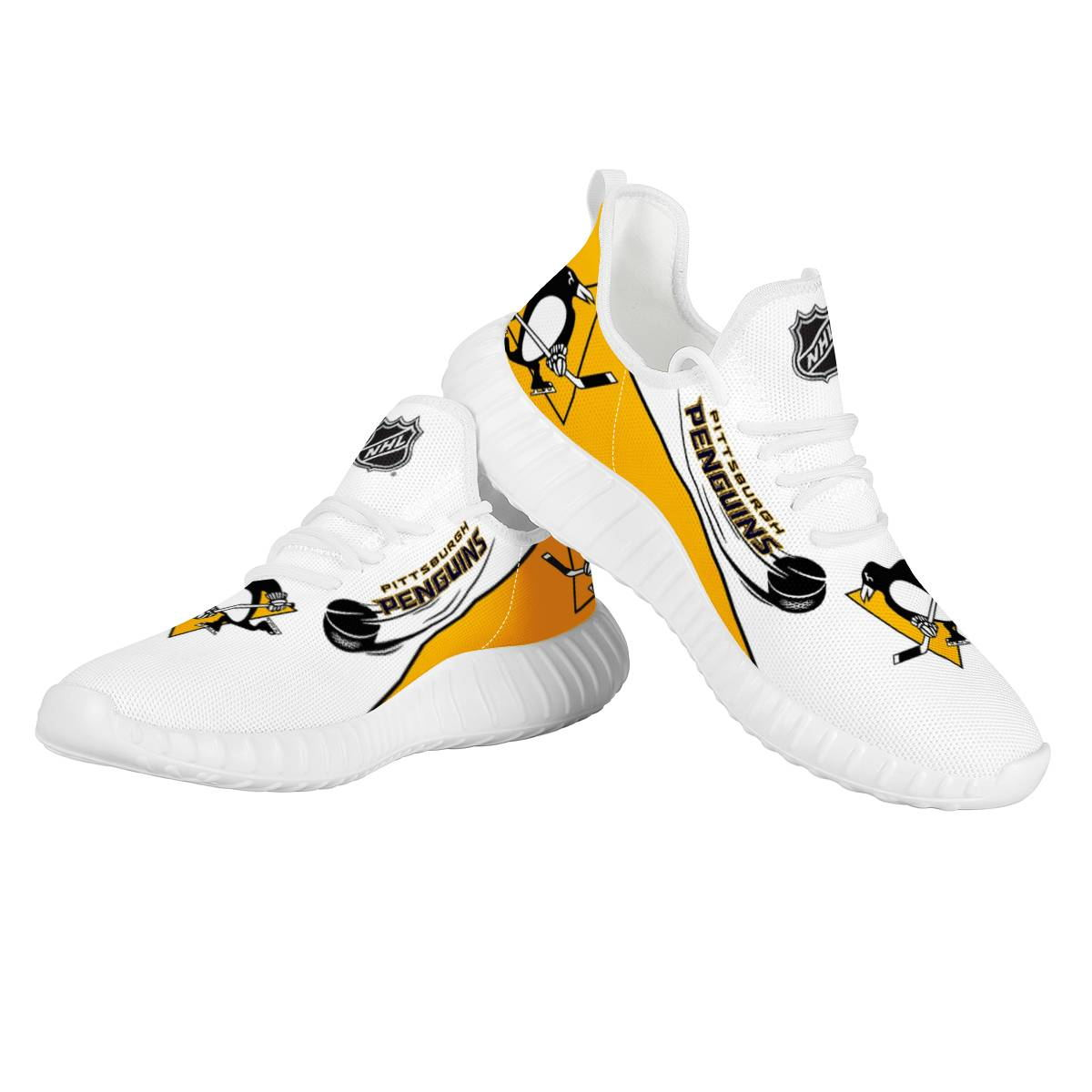 Women's NHL Pittsburgh Penguins Mesh Knit Sneakers/Shoes 002