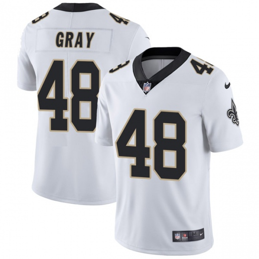 Men's New Orleans Saints #48 J.T. Gray White Vapor Untouchable Limited Stitched NFL Jersey