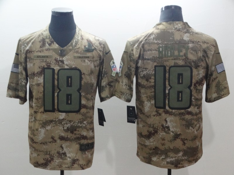 Men's Atlanta Falcons #18 Calvin Ridley 2018 Camo Salute to Service Limited Stitched NFL Jersey