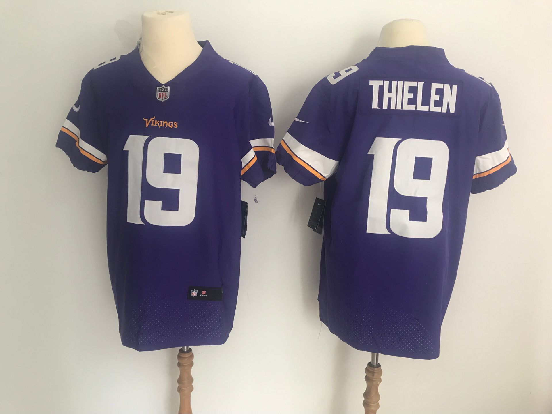 Men's Minnesota Vikings #19 Adam Thielen Purple Vapor Untouchable Elite Stitched NFL Jersey