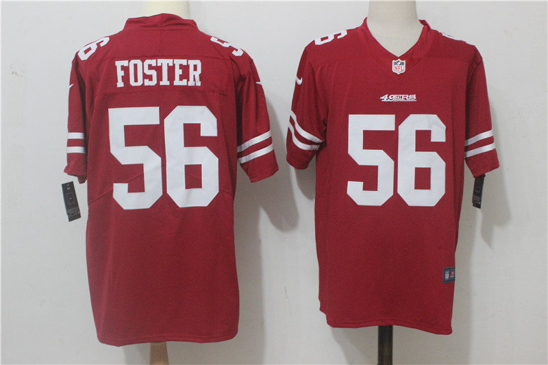 Men's Nike San Francisco 49ers #56 Reuben Foster Red Team Color Stitched NFL Vapor Untouchable Limited Jersey