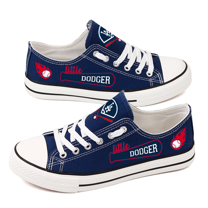Women's Los Angeles Dodgers Repeat Print Low Top Sneakers 004
