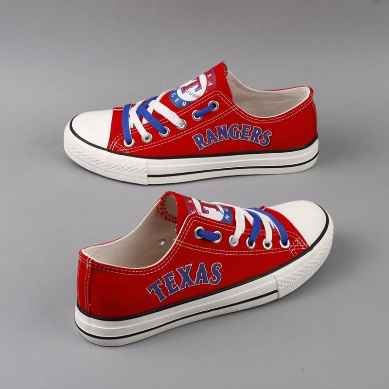 Women's Texas Rangers Repeat Print Low Top Sneakers 001