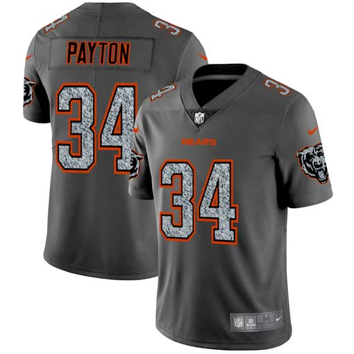Men's Chicago Bears #34 Walter Payton 2019 Gray Fashion Static Limited Stitched NFL Jersey