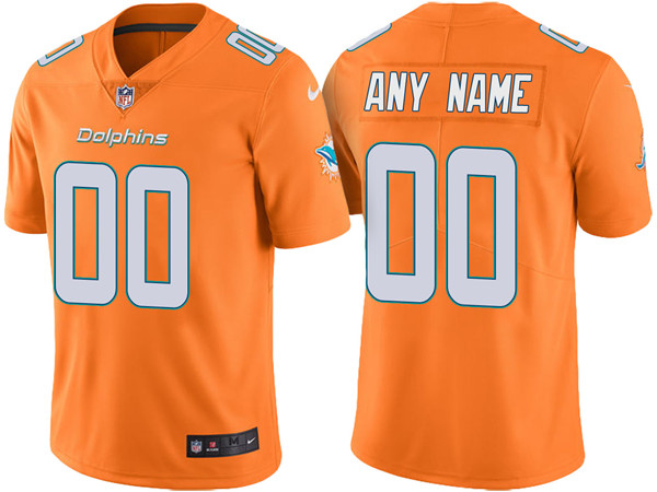 Men's Miami Dolphins ACTIVE PLAYER Custom Orange Untouchable Limited Stitched NFL Jersey