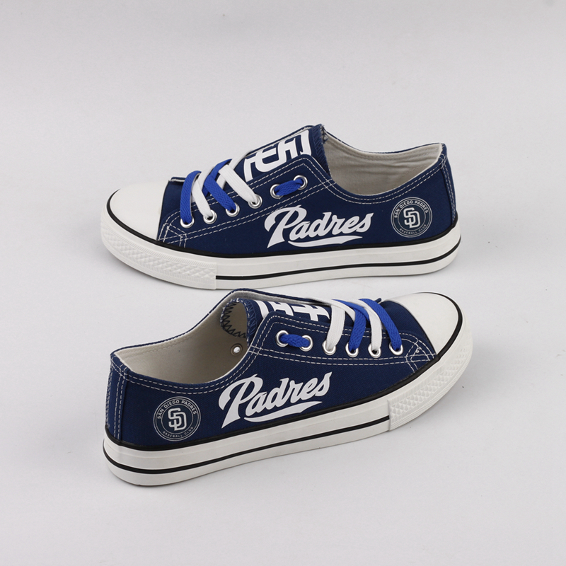 Women's San Diego Padres Repeat Print Low Top Sneakers 001