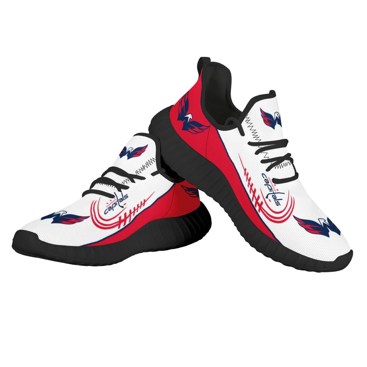 Men's NHL Washington Capitals Mesh Knit Sneakers/Shoes 001