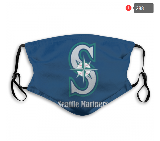 Seattle Mariners Face Mask 002 Filter Pm2.5 (Pls check description for details)