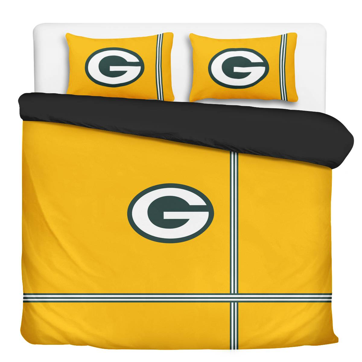 Green Bay Packers 3-Piece Full Bedding 001