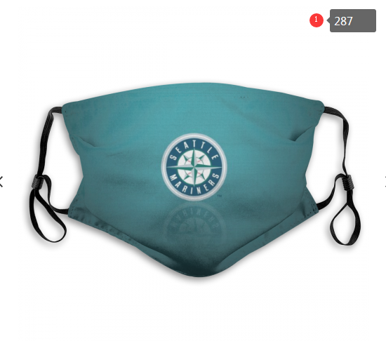 Seattle Mariners Face Mask 003 Filter Pm2.5 (Pls check description for details)