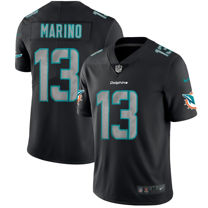 Men's Miami Dolphins #13 Dan Marino Black 2018 Impact Limited Stitched NFL Jersey