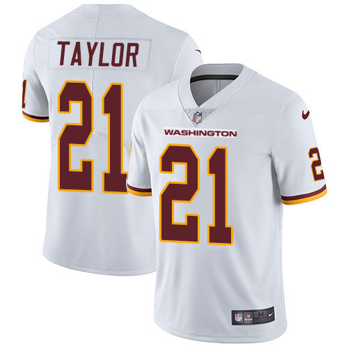 Men's Washington Football Team #21 Sean Taylor White Vapor Untouchable Limited Stitched Jersey