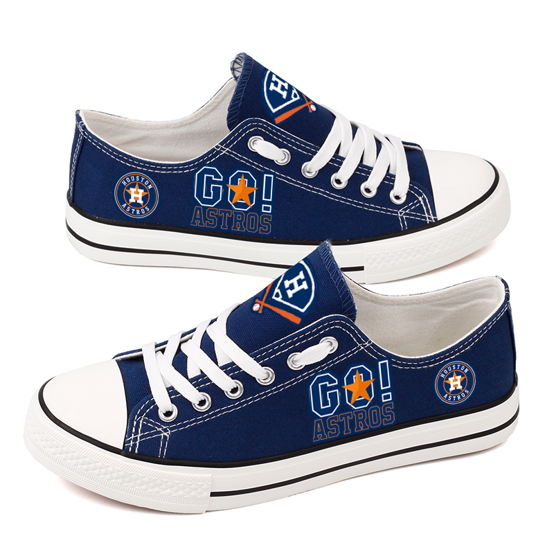 Women's Houston Astros Repeat Print Low Top Sneakers 006