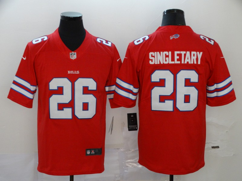 Men's Buffalo Bills #26 Devin Singletary Red Vapor Untouchable Limited Stitched NFL Jersey