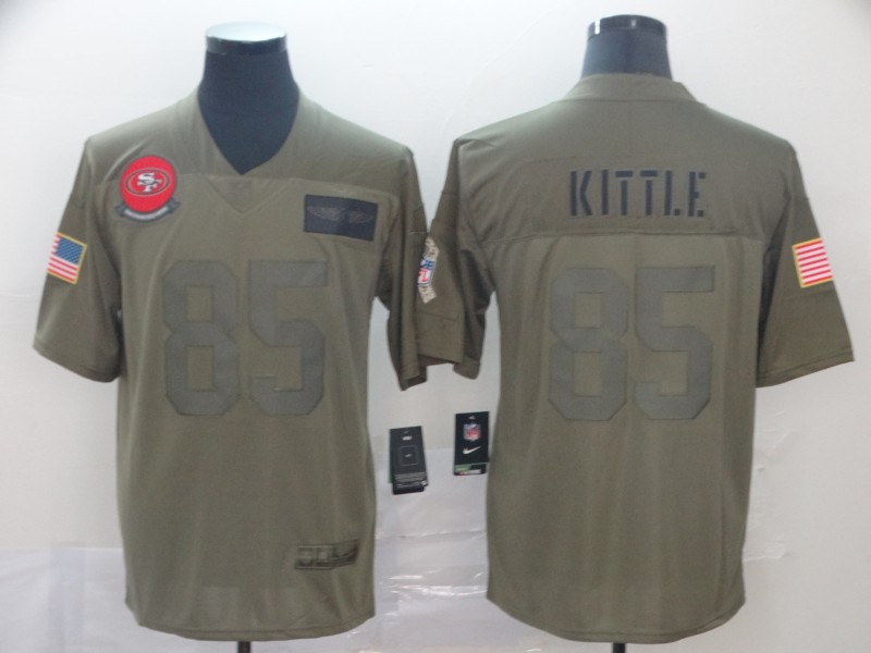 Men's San Francisco 49ers #85 George Kittle 2019 Camo Salute To Service Limited Stitched NFL Jersey