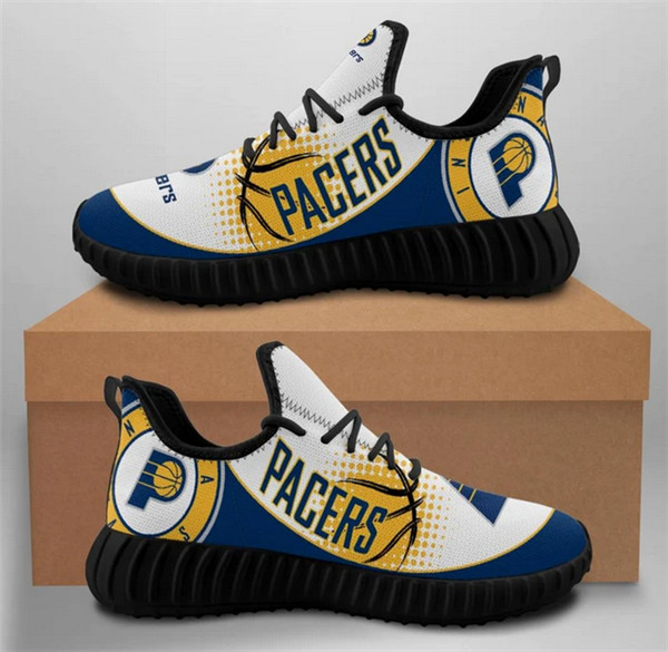 Men's Indiana Pacers Mesh Knit Sneakers/Shoes 002
