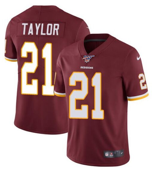 Men's Washington Redskins #21 Sean Taylor Red 2019 100th season Vapor Untouchable Limited Stitched NFL Jersey