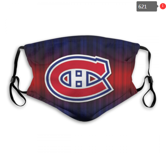 Montreal Canadiens Face Mask 002 Filter Pm2.5 (Pls check description for details)