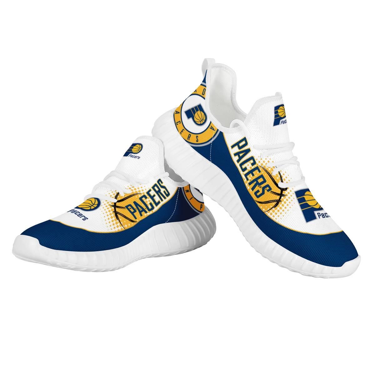 Men's Indiana Pacers Mesh Knit Sneakers/Shoes 001
