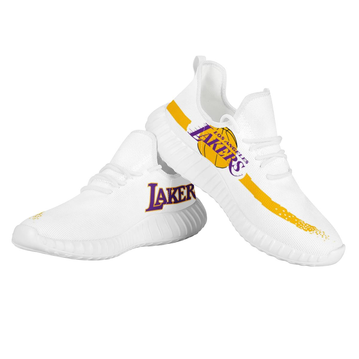 Women's Los Angeles Lakers Mesh Knit Sneakers/Shoes 002