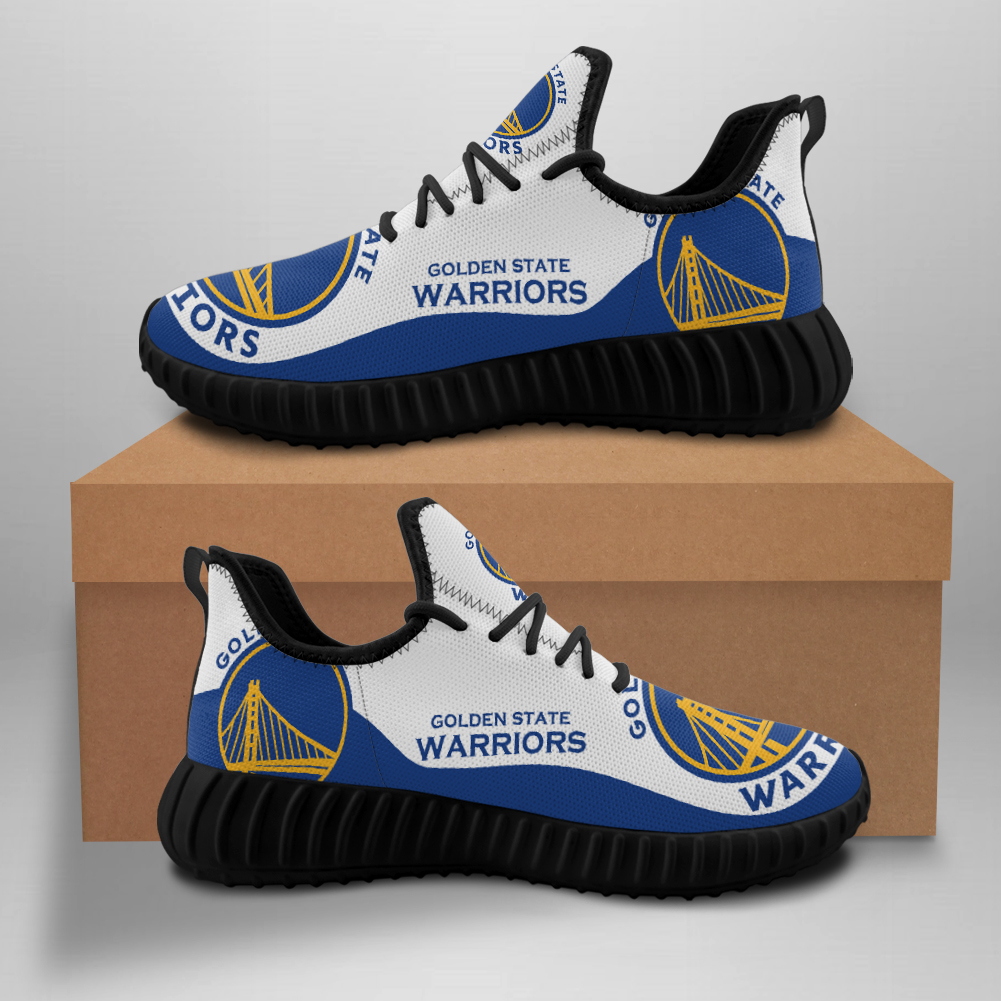 Men's Golden State Warriors Mesh Knit Sneakers/Shoes 005