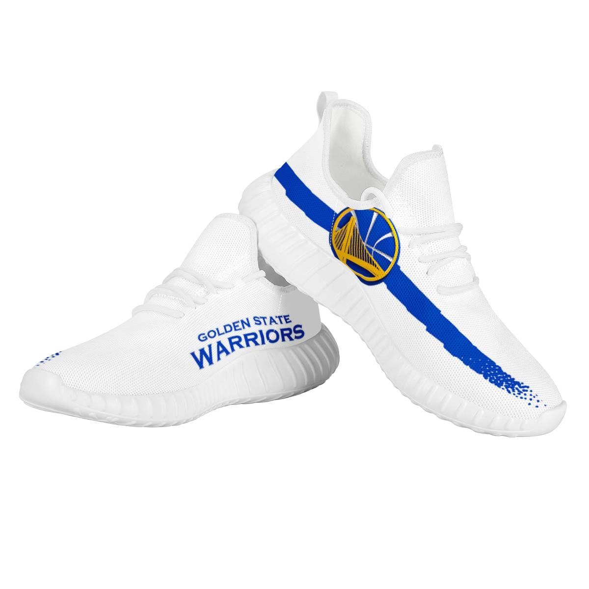 Men's Golden State Warriors Mesh Knit Sneakers/Shoes 001