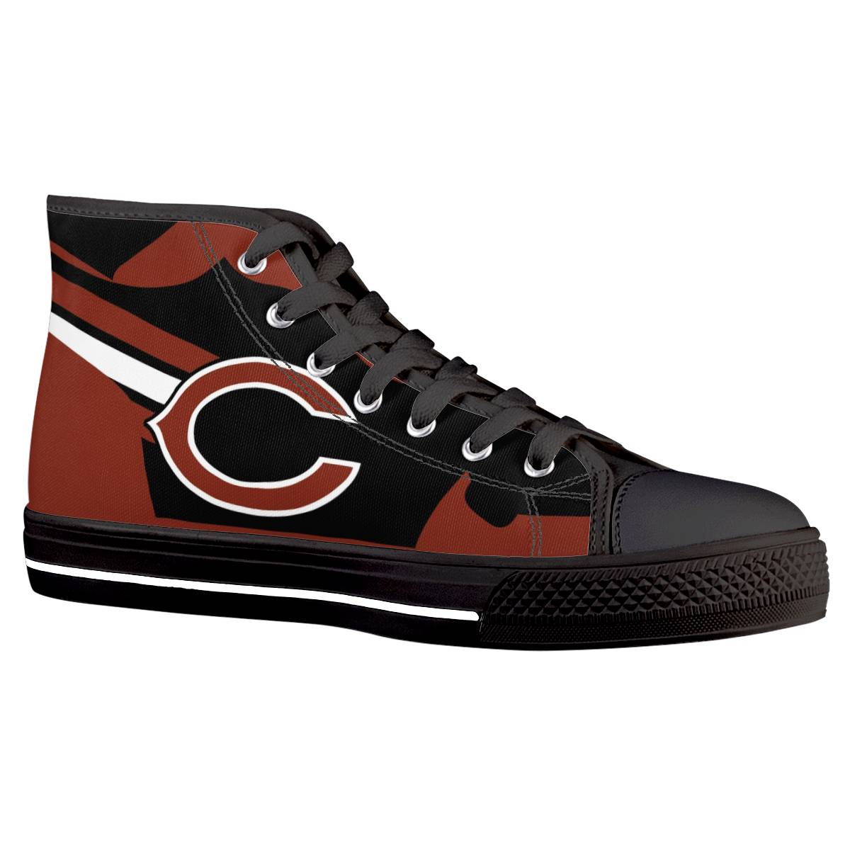 Men's Chicago Bears High Top Canvas Sneakers 003