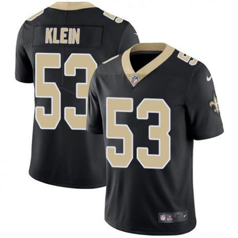 Men's New Orleans Saints #53 A.J. Klein Black Vapor Untouchable Limited Stitched NFL Jersey