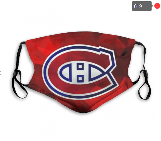 Montreal Canadiens Face Mask 004 Filter Pm2.5 (Pls check description for details)