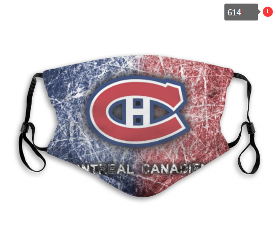 Montreal Canadiens Face Mask 005 Filter Pm2.5 (Pls check description for details)