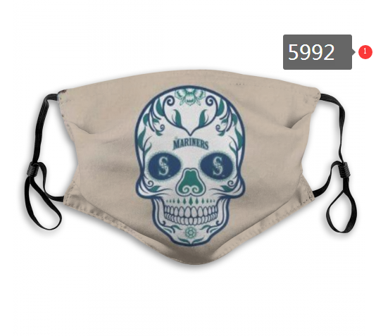 Seattle Mariners Face Mask 5992 Filter Pm2.5 (Pls check description for details)