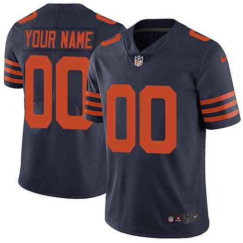 Men's Chicago Bears ACTIVE PLAYER Custom Navy Vapor Untouchable Limited Stitched NFL Jersey