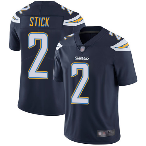 Men's Los Angeles Chargers #2 Easton Stick Navy Vapor Untouchable Limited Stitched NFL Jersey